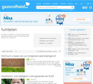 website thumbnail gezondheid.be